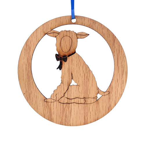 Lamb Laser-Etched Ornament - Ballet Gift Shop