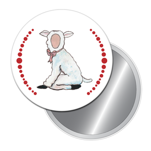 Lamb Button/Magnet/Mirror