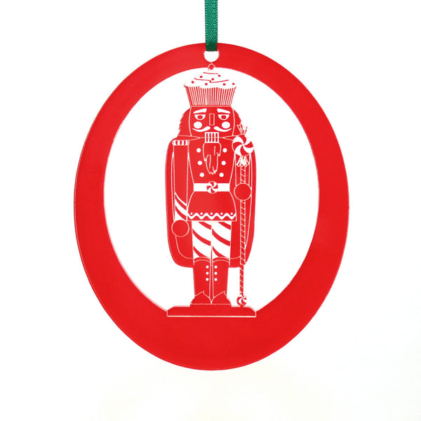 Land of Sweets Nutcracker Laser-Etched Ornament
