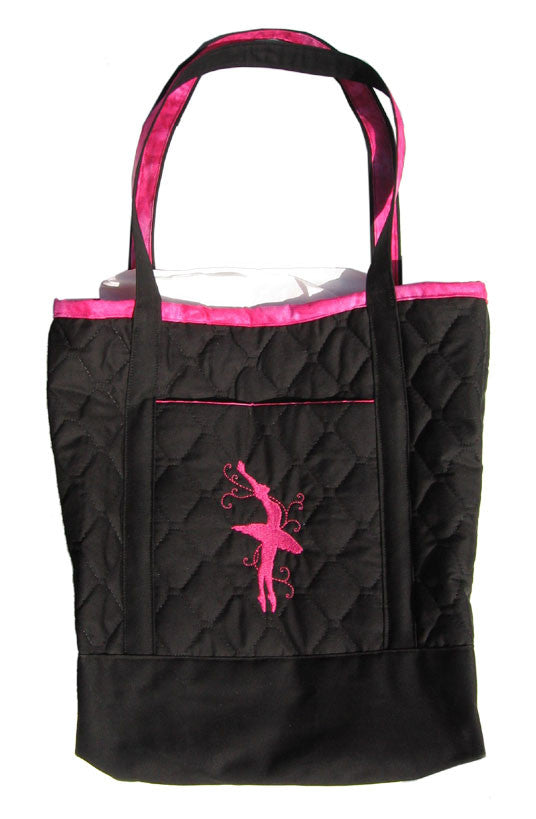 Large Embroidered Ballerina Tote Bag - Ballet Gift Shop