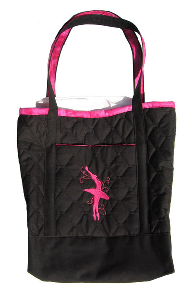 Large Embroidered Ballerina Tote Bag