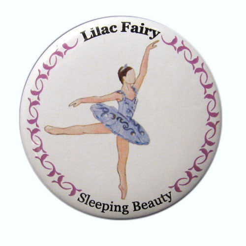 Lilac Fairy Button / Magnet