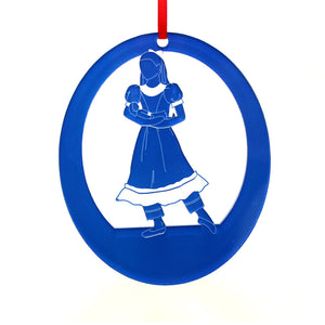 Little Girl at the Party Laser-Etched Ornament - Ballet Gift Shop