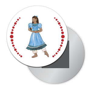 Little Girl at the Party (African-American) Button/Magnet/Mirror