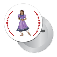 Load image into Gallery viewer, Little Girl at the Party (African-American) Button/Magnet/Mirror