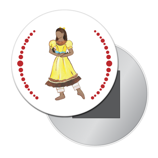 Little Girl at the Party (African-American) Button / Magnet