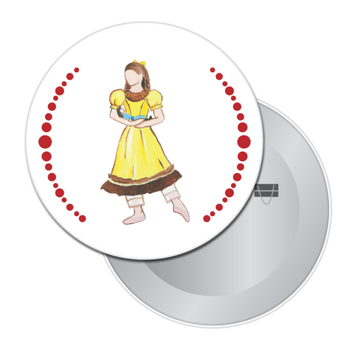Little Girl at the Party Button/Magnet/Mirror