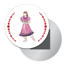 Load image into Gallery viewer, Little Girl at the Party Button / Magnet