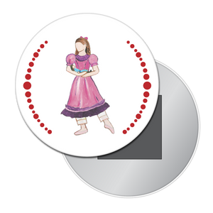 Little Girl at the Party Button / Magnet