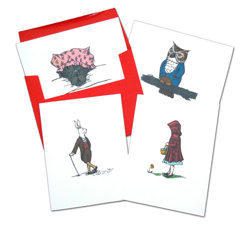 Red Riding Hood Assorted Note Card Set - Ballet Gift Shop