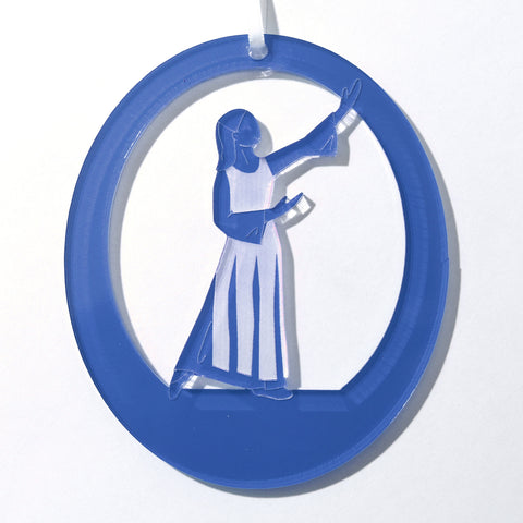 Liturgical Dancer #1 Laser-Etched Ornament