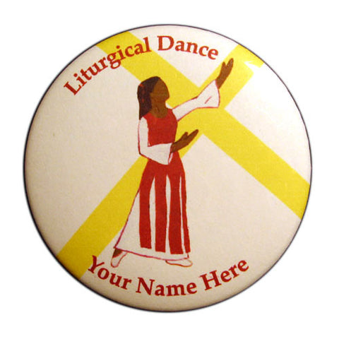 Liturgical Dancer #1 (African-American) Button / Magnet - Ballet Gift Shop