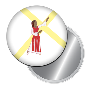 Liturgical Dancer #1 (African-American) Button/Magnet/Mirror