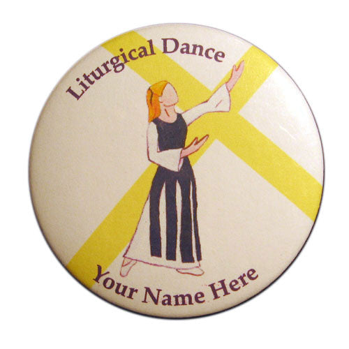 Liturgical Dancer #1 Button/Magnet/Mirror - Ballet Gift Shop