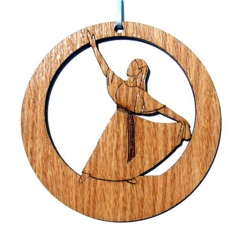 Liturgical Dancer #2 Laser-Etched Ornament