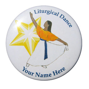 Liturgical Dancer #2 (African-American) Button/Magnet/Mirror - Ballet Gift Shop