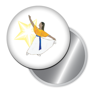Liturgical Dancer #2 (African-American) Button/Magnet/Mirror