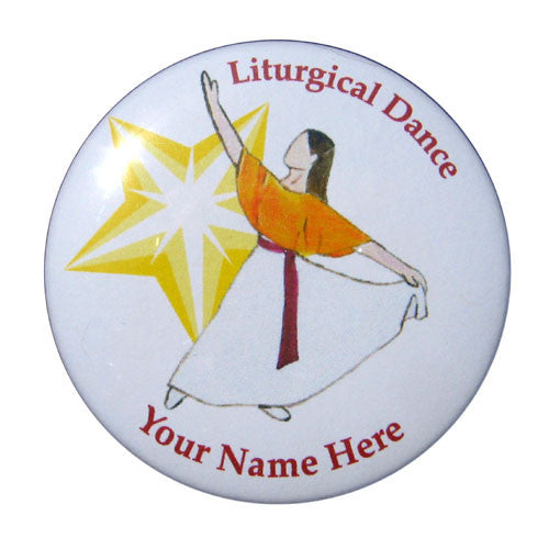 Liturgical Dancer #2 Button/Magnet/Mirror - Ballet Gift Shop