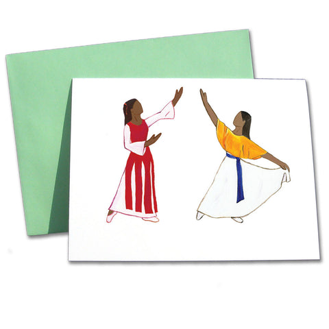 Liturgical Dancers (African-American) Note Cards
