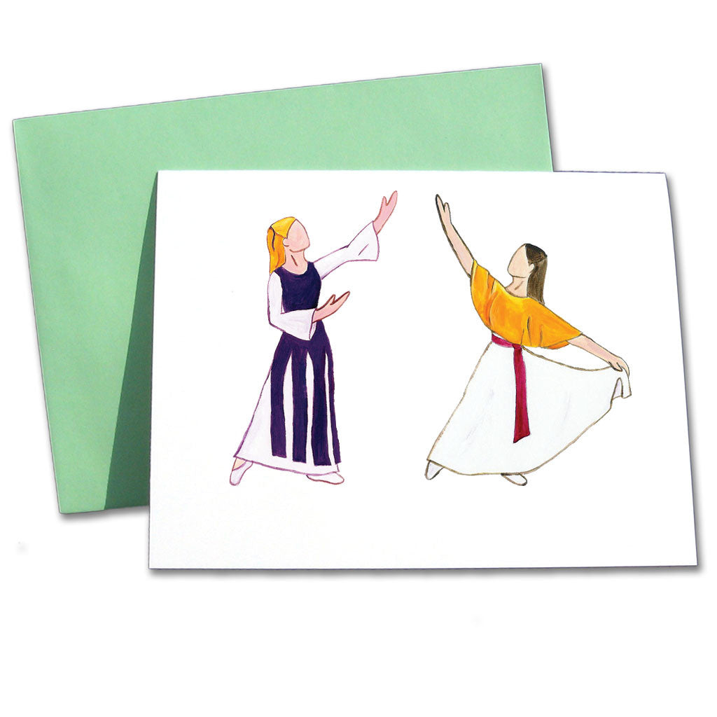 Liturgical Dancers Note Cards - Ballet Gift Shop