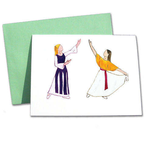 Liturgical Dancers Note Cards