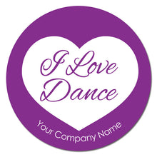 "Load image into Gallery viewer, Love Dance 3""x3"" Circle Full-Color Magnets (Choose from 4 designs) - Ballet Gift Shop"