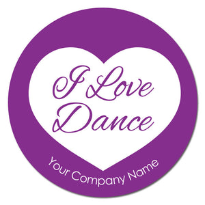 "Love Dance 3""x3"" Circle Full-Color Magnets (Choose from 4 designs) - Ballet Gift Shop"