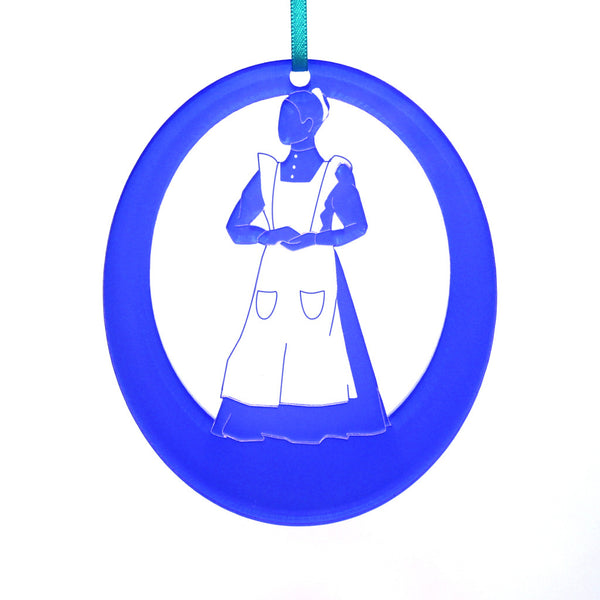Maid Laser-Etched Ornament