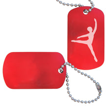 Load image into Gallery viewer, Male Dancer/Cavalier Dance Bag Tag - Ballet Gift Shop