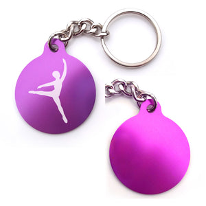 Dance-Themed Key Chain  - Circle (Choose from 6 designs)