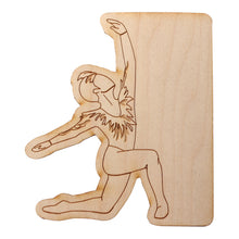 Load image into Gallery viewer, Male Dancer Wooden Decal - Ballet Gift Shop