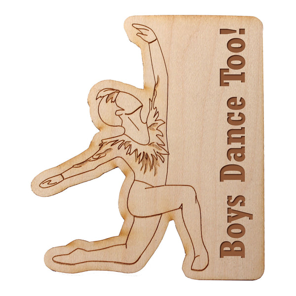 Male Dancer Wooden Decal - Ballet Gift Shop