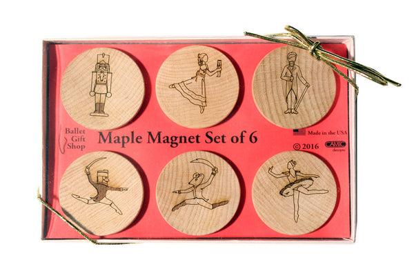 Nutcracker Characters Maple Magnet Set of 6