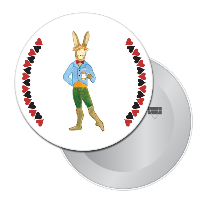 March Hare Button / Magnet