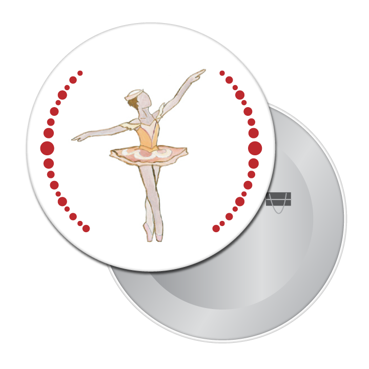 Marzipan Girl Button / Magnet