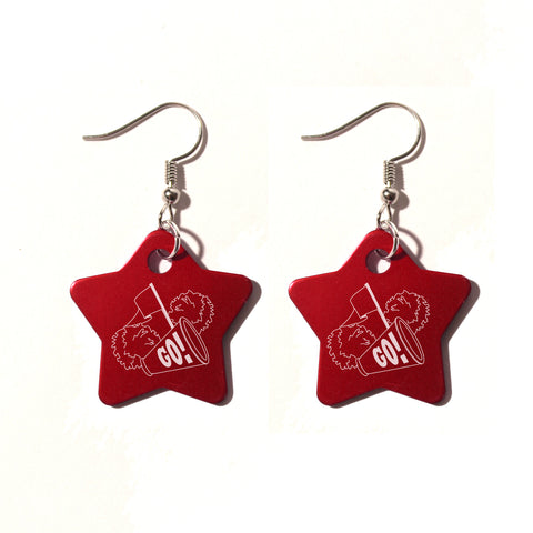 Cheer Megaphone Metal Earrings