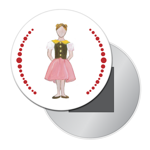 Mother Ginger Girl Button / Magnet