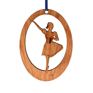 Mirliton Laser-Etched Ornament - Ballet Gift Shop