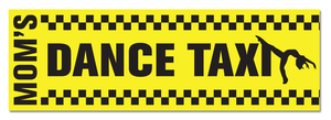 "Mom's Dance Taxi 11-1/2"" x 3-3/4"" Bumper Sticker - Ballet Gift Shop"