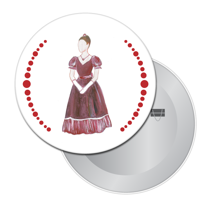 Mrs. Silverhaus Button / Magnet