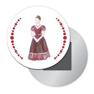 Mrs. Silverhaus Button/Magnet/Mirror