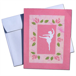 Pink Arabesque Note Cards - Ballet Gift Shop