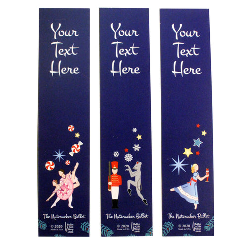 Personalized Nutcracker Ballet Bookmarks - Set of 3