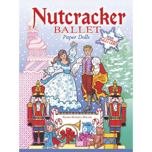 Nutcracker Ballet Paper Dolls with Glitter