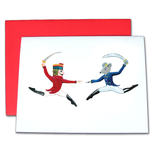 Nutcracker Prince & Rat King Note Cards - Ballet Gift Shop