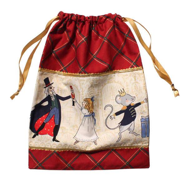 Nutcracker Illustrations Drawstring Tote - Cotton - Ballet Gift Shop