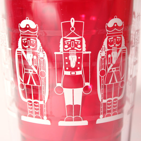 Red Nutcracker Tumbler (detail) - Made in USA