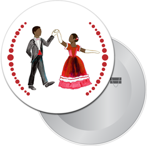 Parents at the Party (African-American) Button/Magnet/Mirror