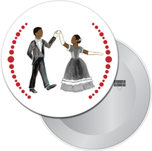 Load image into Gallery viewer, Parents at the Party (African-American) Button/Magnet/Mirror