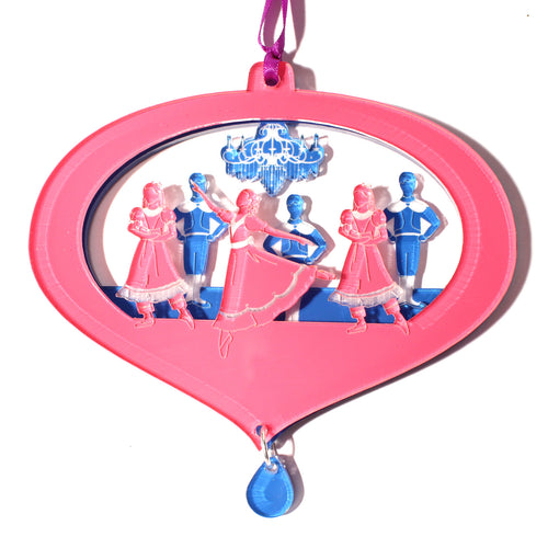Girls & Boys at the Party Layered Ornament - Ballet Gift Shop